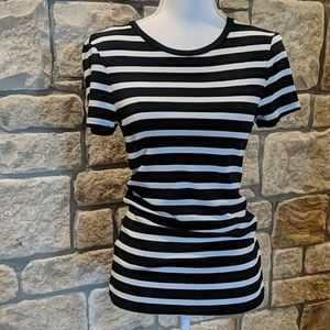 Old Navy Black and White Stripe Size M